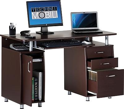 Techni Mobili Double Pedestal Laminate Computer Desk