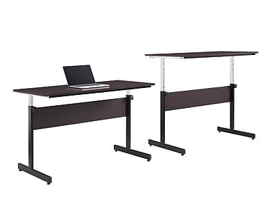Whalen 48 Adjustable Standing Desk Espresso SPCALD48 Staples