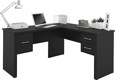 Bestar Somerville L Shaped Desk Black Staples